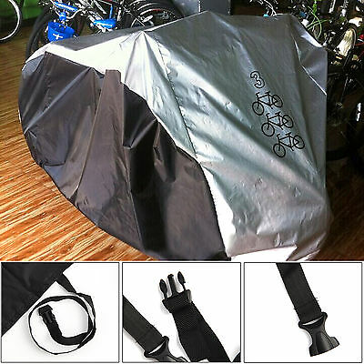 Nylon Waterproof Triple 3 Bike Rain Cover Bicycle Scooter Dust Cover Garage