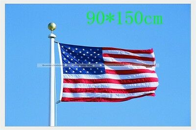 3' x 5' Ft American Flag USA US United States Stripes Stars Brass Grommets S8