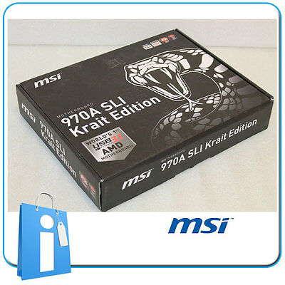 Placa base ATX 970 MSI 970A SLI Krait Edition USB 3.1 Socket AM3 con Accesorios