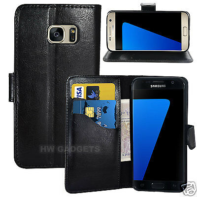 Leather Wallet Flip Case Cover for Samsung Galaxy S7 Edge - FULL BODY PROTECTION