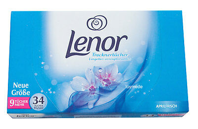 german LENOR Trocknertücher Aprilfrisch Fabric Softener Dryer Sheets 25 Stck.