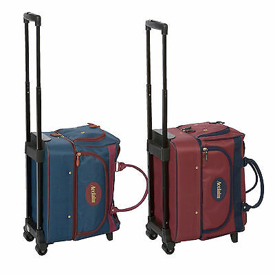 ACCLAIM Eyemouth Unisex Indoor Outdoor Bowls Trolley Bag Navy Blue & Burgundy