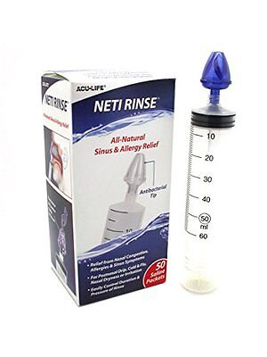 3 Pack Neti Rinse Nasal Passage Allergy Sinus Relief With 50 Saline Packets Each