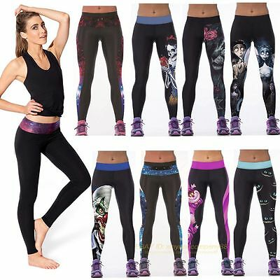 Womens Yoga Gym Pants Running Sports Leggings Fitness Jogging Stretch Trousers