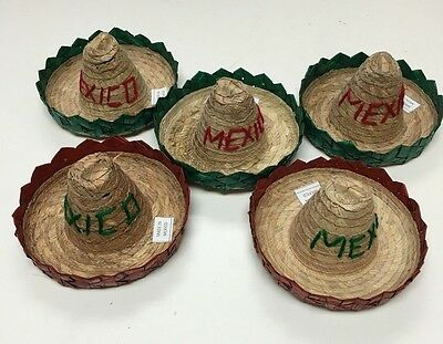 Set of 5 Mexican mini Charro Hats ,Party favors, Decorations, Sombreros , MEXICO