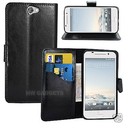Leather Wallet Flip Case Cover for HTC One A9 - FULL BODY PROTECTION