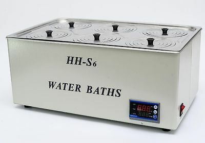 1500W Digital Thermostatic Water Bath 6 Hole 500*300*150mm Fast Shipping