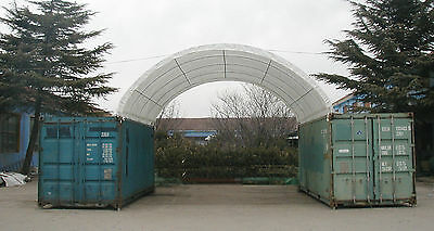 Container Shelter 6m W x 6m L Igloo Dome Roof Container Shelter