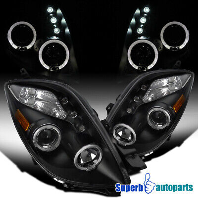 2006-2008 Yaris HB 2D Halo Projector Led Lamps Headlights Black SpecD Tuning