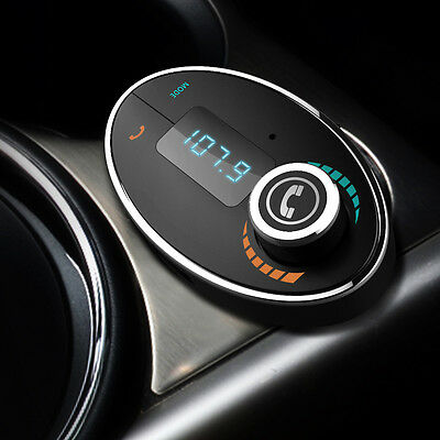 Wireless Bluetooth Handsfree FM Transmitter Car Stereo MP3 Player USB Charger