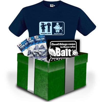 BIRTHDAY Funny Fishing Gift Set 'Problem / Sorted' Tee by Big Kippers | FREE p&p