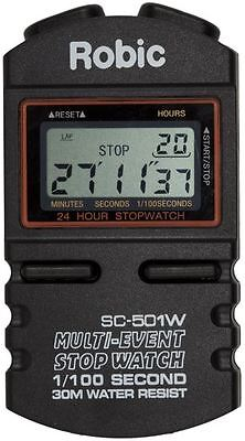 Robic SC-505W 12 Lap Memory Stopwatch For Race Rally Circuit Lap Timing