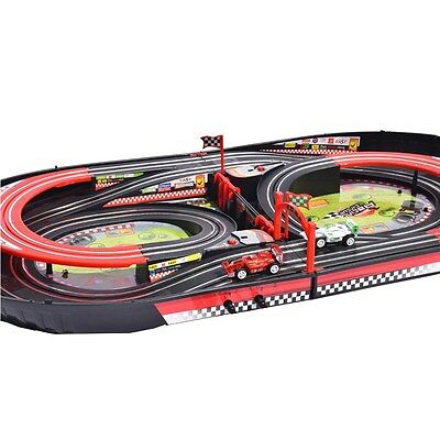 deAO Slot Cars Racing Track in Handy Carry Case -ECO-friendly