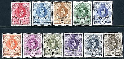 SWAZILAND-1938-54  A mounted mint set to 10/- Sg 28-38a