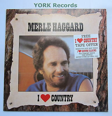 MERLE HAGGARD - I Love Country - Excellent Condition LP Record Epic EPC 54944