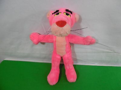 Vintage 1980 Pink Panther Stuffed Animal Doll by Mighty Star 10""