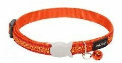 RED DINGO Collier pour Chat Bedrock Orange 20-32 12 mm
