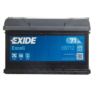 12V 71Ah Type 100 670CCA 3 Years Wty Sealed OEM Replacement Exide Car Battery