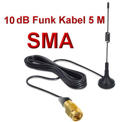 2 4ghz wlan antenne 5m kabel sma male f r ip kamera foscam instar 7links apexis eur 9 99. Black Bedroom Furniture Sets. Home Design Ideas