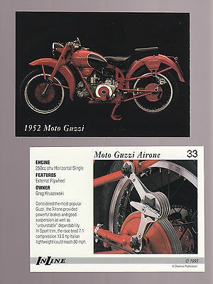 1952 MOTO GUZZI AIRONE 250cc ohv Single 1993 Inline Classic Motorcycle CARD # 33