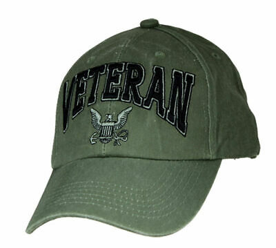 5e2047d4c4ef4 U.s Navy Veteran Hat Embroidered 3D Raised Letters Military Ball Cap Od  Green