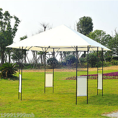 Outsunny 10' x 10' Gazebo Canopy Cater Events Wedding Party Tent Cream-white