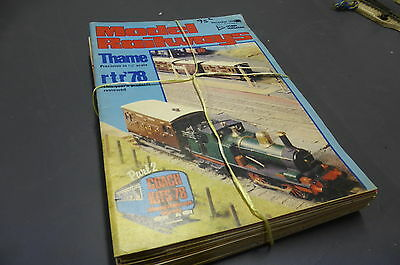 Model Railways - British Mag Collection 16 Issues 1972-81 Vintage MR7