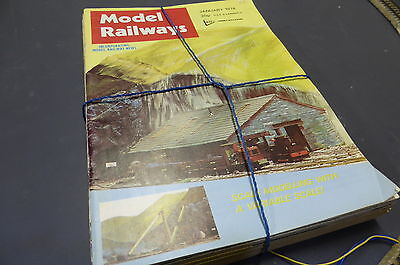 Model Railways - British Mag Collection 16 Issues 1973-78 Vintage MR8
