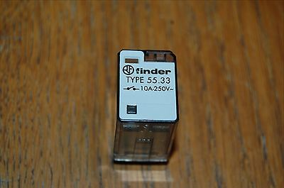 Lot of 2 FINDER 55.33 11 Pin Plug in Relay 10A 250VDC 24VAC NEW Ice Cube