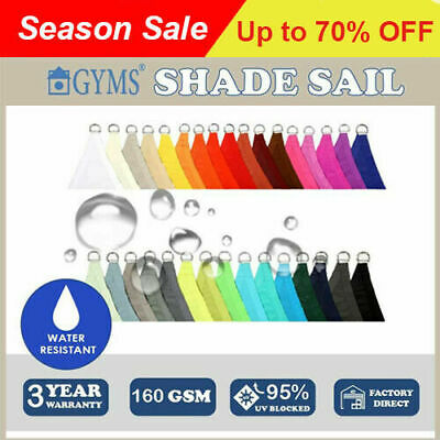 Waterproof SHADE SAIL 3.6m x 3.6m x 3.6m triangle Pink color Special