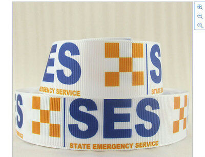 SES Ribbon Orange and White chequered ribbon State Emergency Services 1m long