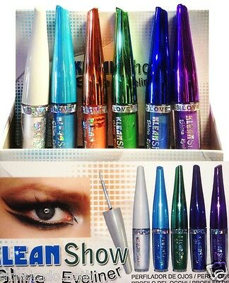 Lot 6 Eye Liner Couleur Pointe Dure Maquillage Yeux