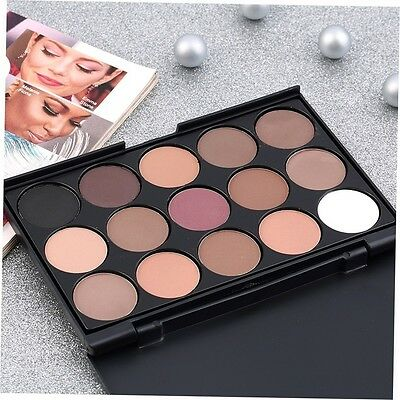 15 Color Professional Cosmetic Eye Shadow Pigments Makeup Palette Matte YH