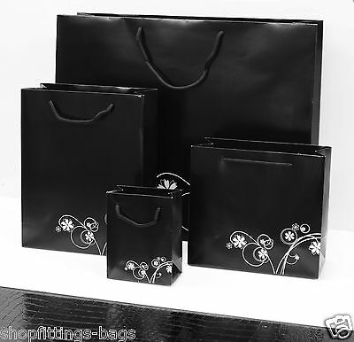 Paper Bags BLACK WHITE FLOWER High Quality Accessories Birthday Gift Jewellery
