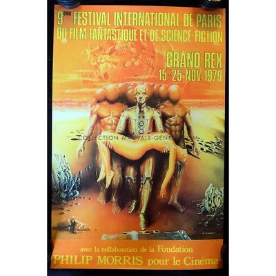 FESTIVAL DU FILM FANTASTIQUE DE PARIS Affiche Officielle 39x60 - 1979