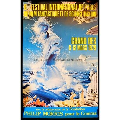FESTIVAL DU FILM FANTASTIQUE DE PARIS Affiche Officielle 39x60 - 1980
