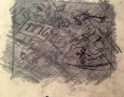 """Julian Ritter_1976 -Charcoal Tracing on Vellum 11"""" x 15"""" Signed-427"""