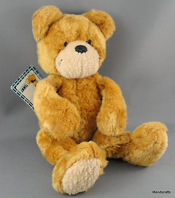 Nici Tommy Teddy Bear Plush Golden Brown 8in Soft Flexible w Hang Tag Germany