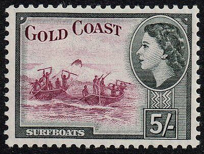 Gold Coast 1954 5s. surfboats, MH (SG#163)
