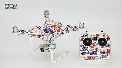 Sticker Decal Wrap Skin For DJI Phantom 4+Battery+REMOTE  NEWS