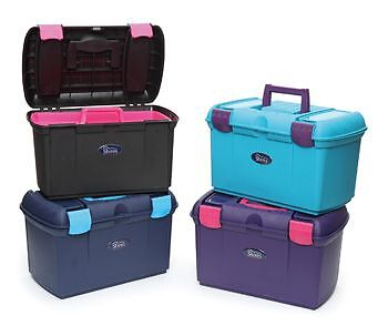 Shires Two Tone Tack Grooming Box - 4 Gorgeous Colours