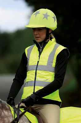 Shires EQUI-FLECTOR® Hi-Viz Reflective Fluorescent Safety Waistcoat Yellow, Pink