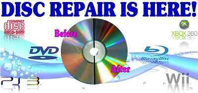 500 Professional Disc Repair Service Scratch Removal Resurface Restore Any Disc