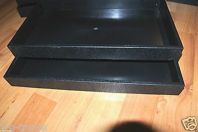 LOT 2 Ring Displays Continuous Rows WITH Black Insert Plastic Stackable Trays 72