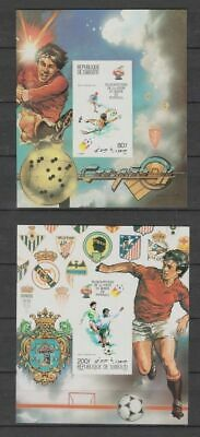 s5686) DJIBOUTI 1982 MNH** WC Football'82- CM Calcio S/S x2 IMPERF