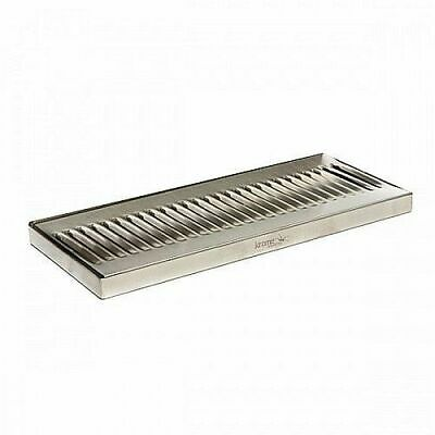 "Stainless Steel Drip Tray - Surface Mount 12"" x 5"" No Drain Surface Mount Beer"