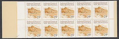 MICRONESIA BOOKLET : 1988 Definitive 25c x 10 SG SB3 MNH