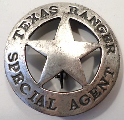 Texas Ranger Special Agent Old West Western Badge Pin