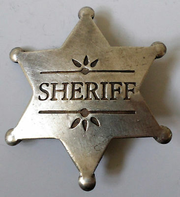 Sheriff Badge Old Western Star Pin Of The Old West Bw-11