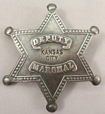 Deputy Marshal Kansas City Western Badge Of The Old West Pin Bw-15A